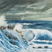Die Wellen an der Brandung