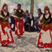 Chinesische Tänzerinnen