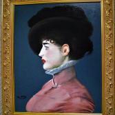 Irma Brunner mit schwarzen Hut