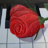 Die Rose und Klavier