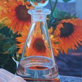 Karaffe mit Sonnenblumen