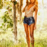 Eva im Garten Eden