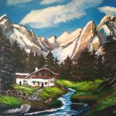 Haus im Gebirge