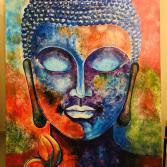 Buddha coloured