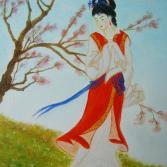Geisha/nach dem Aquarell von Lucy Wang/