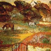 Landschaft mit zwei Pferden