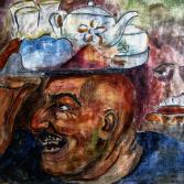 Teeverkäufer im Basar