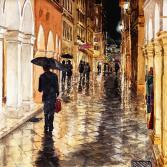 Abends nach dem Regen