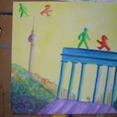 Ampelmännchen erobern das Brandenburgeer Tor