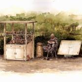 Ägyptischer Souvenierverkäufer
