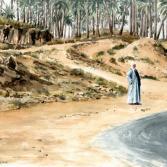 Ägypter an der Straße