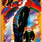 Kleiner Clown und großer Clown