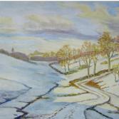 Verschneites Tal (Kraichgau)