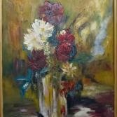 Blumen im Kristall