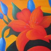 red/blue flower