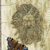 Wandrelief mit Spinne