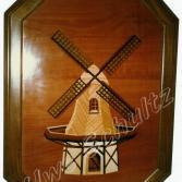 Windmühle - Intarsienarbeit