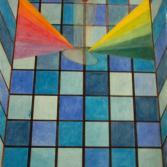 Glasdach mit Spiegelung