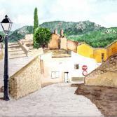 Spanien, auf dem Weg zur Burg