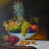 Exotische Fruechte mit Weintraube
