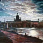 Dresden bei Mondschein nach Christian Clausen Dahl