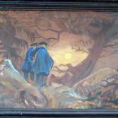 zwei Männer in Betrachtung des Mondes nach Caspar David Friedrich