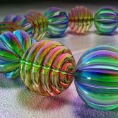 Bunte Glasperlen