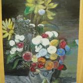 Stilleben mit Blumenvase