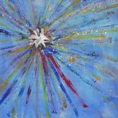 Explosion in Acryl