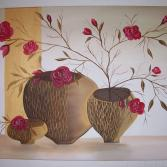 Blumenzweig in Vase  60x40