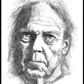 Tuschezeichnung Neil Young