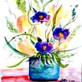 Veilchen und Tulpen - Violets and Tulips
