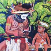 Vater & Sohn in Neuguinea