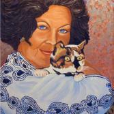 Nadja mit Katze