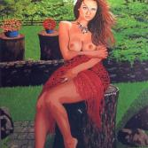 Kati mit rote Stola