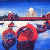 Taj-Mahal in Agra von Fluss Yamuna