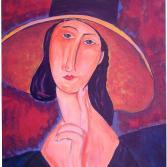Frau mit Hut - nach Modigliani