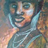 Blauäugige Afrikanerin