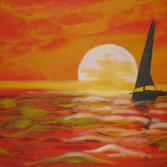 """""""Abendstimmung am kretischen Meer"""""""