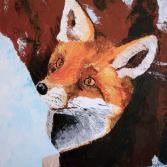 Fuchs vor der Höhle