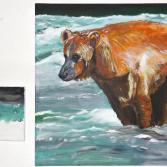 Bär und Lachs