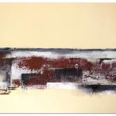 Modernes Wandbild Bordeaux Rot Silber abstrakt