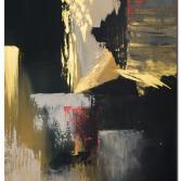 Wandbilder abstrakt Gold Rush als handgemaltes Wandbild