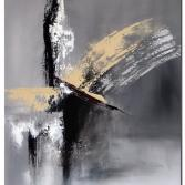 Wandbild abstrakt Phoenix handgemaltes Wandbild