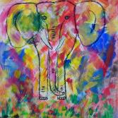 Elefant in Bunt