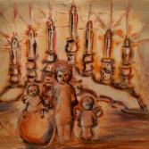 3 Engel mit Kerzenleuchter