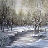 Pfinzufer im Schnee
