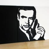 James Bond Pop Art Leinwand