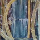 Bambus am Wasserfall