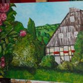 Bauernhaus mit Rosen
